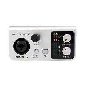 Placa De Sonido Externa Usb Midiplus Studio M 24bits 192khz