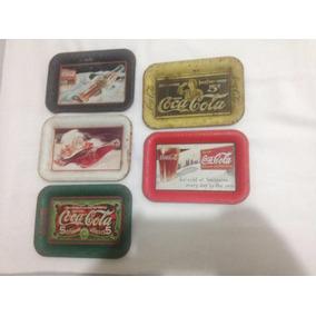5 Mini Bandejas Coca Cola Vintages Frete Gratis Carta 209,94