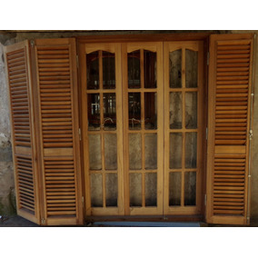 Ventanas de madera con postigos pisos paredes y for Ventanas de madera mercadolibre argentina