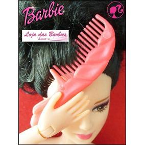 Pente De Cabelo P/ Boneca Barbie Susi Escova Acessórios