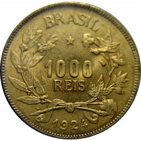 Brasil 1000 Réis 1924 Fc