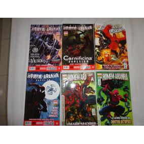 Lote Com 6 Revistas Em Quadrinhos Do Homen-aranha