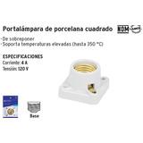 Volteck-portalámpara De Porcelana, Cuadrado*46522
