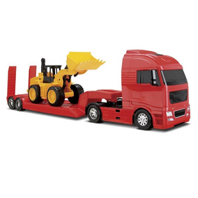 Lindo Brinquedo Caminhão Com Carregadeira Roma Jensen