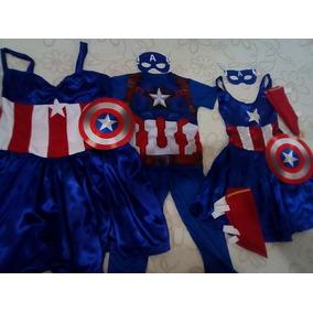 Vestido Capitã America Mãe E Filha Ou Filho.