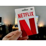 Netflix Giftcard Tarjeta 4k 1 Pantalla 30 Dias