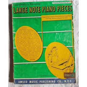 +100 Partituras Large Note Piano Pieces Everybody