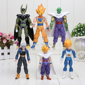 Kit 6 Bonecos Articulados Dragon Ball Z Goku/vegeta/cell+