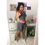 Kit 6 Peças 3 Short Treino + 3 Top Fitness