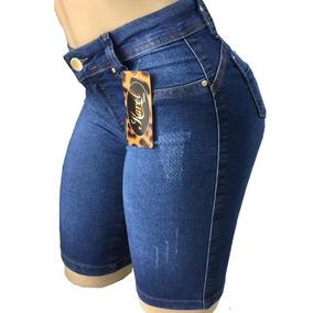 Shorts Bermuda Jeans Ciclista Feminino Kit Com 3