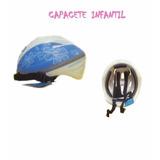 Capacete Infantil Azul - Bicicleta Patins Skate