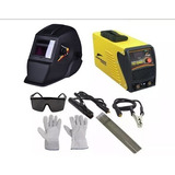 Maquina De Solda Inversora 165am 220v Mascara + Acessórios