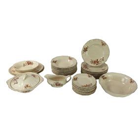 Antigo Aparelho De Jantar Ingles Porcelana J & G Meakin