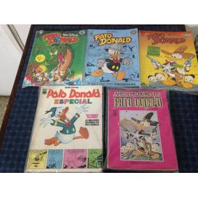 5 Revistas Pato Donald - Disney - Raridades - Gibis Antigos