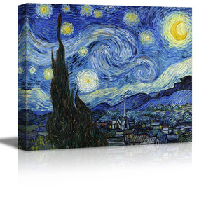 06941ddb1d4f26 Wall26 Starry Night By Vincent Van Gogh - Canvas Wall Art Mo