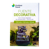 Fuente Decorativa Outdoor Trend Con Luz Led 18cm