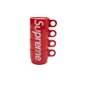 Supreme Stacking Cups Red (set 4) - Tazas Supreme + Sticker