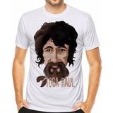 Camiseta Bandas De Rock Raul Seixas Camisa Frase Toca Raul