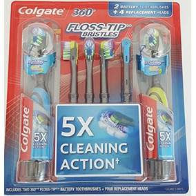 Colgate 360 Floss-tip Electric (battery) 2 Toothbrush W  4 R 4d470bea221b