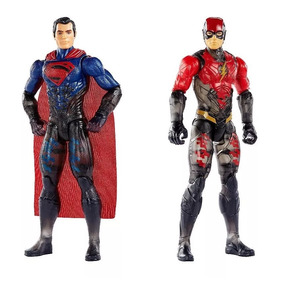 Kit Boneco Superman E The Flash Mattel 30cm Liga Da Justiça