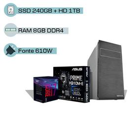 Pc I7 8700 8 Geração, 16gb Ddr4, Ssd 240gb, Hd 1tb, Wi-fi