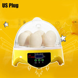 7 Huevos Incubadora Automática P/ Pato Pájaro Pollo Huevo