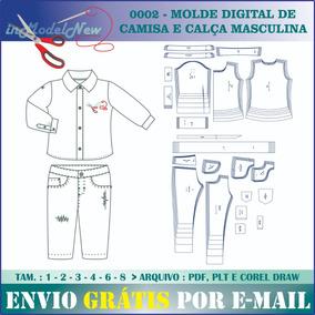 9a84ab27ba6d3 Moldes De Camisas Em Cdr no Mercado Livre Brasil