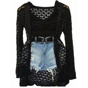 Conjunto Feminino Blusinha E Short Jeans