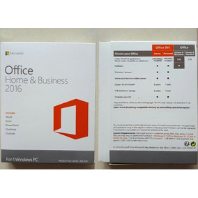 Office Home And Business 2016 Box Lacrado.