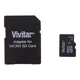 Tarjetas Micro Sd,vivitar 8 Gb Tarjeta Micro Sd Y Adapta..