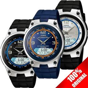 948ff5e36c18 Reloj Casio Aw 82 Azul Fases Lunares Cronómetro Modo Pesca
