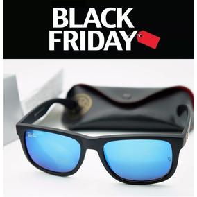 86a6638f56f50 Oculos De Sol Rayban Justin Fosco Lente Azul   Envio 24 Hs