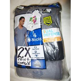 Camisetas De Interior Gris Y Negro Cuello V Talla 2x Fruit
