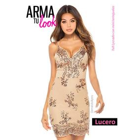 d82c443abe Vestido Lucero Dorado Noche Fiesta Lentejuela - Arma Tu Look