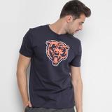 Camiseta New Era Nfl Permanente Chicago Bears Marinho c50b3202eb4
