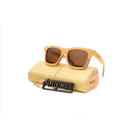 0b001c27acf64 Óculos De Sol Unissex Polarizado Bambu Madeira -frete Gratis