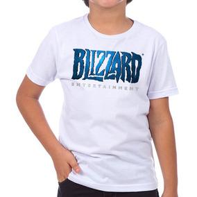 22483dc696 Camiseta Infantil Masculina - Blizzard Logo