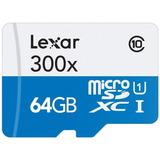 Tarjeta Micro Sd Lexar De 64gb Con Adaptador - Lsdmi64gb1nl3