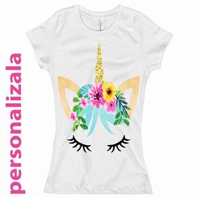 Blusa Unicornio Colores Playera Brillos Para Dama Y Niña