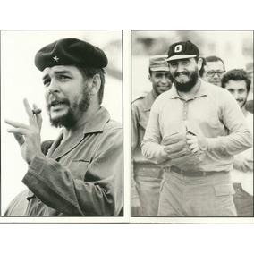2 Fotos Postales De Cuba: Fidel Y El Che S/c