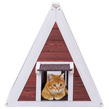 Onestops8 Weatherproof Wooden Cat House Furniture Shelter Co