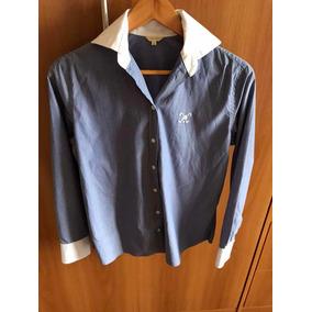 655e016816f97 Camisa Listrada Feminina Azul E Branco Manga Longa Polo Play