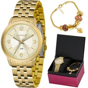 Kit Relógio Lince Feminino Com Pulseira Lrg4505lku47c2kx
