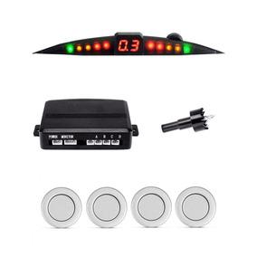 Sensor De Estacionamento Ré 4 Pontos Display Slim