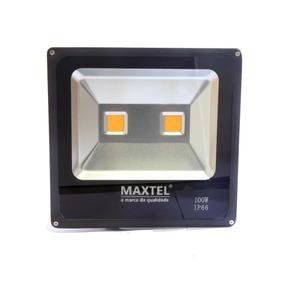 Kit 1 Refletor Led 200w Clx+ 6 Refletor Led 100w Maxtel Frio