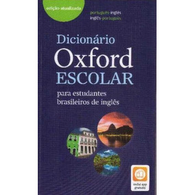 Dicionário Oxford Escolar Para Estudantes Brasileiros De In