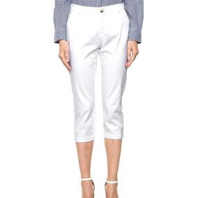 Dockers Pantalon Capri Blanco Mujer Talla 2 Envio Gratis