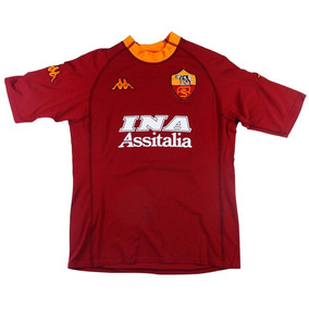 Camiseta Roma Titular Kappa Retro 2000 Totti Batistuta 0cfc0edffc6d6