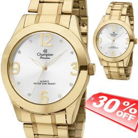25819cf64bb Relogio Feminino Grande Dourado Original - Relógios De Pulso no ...