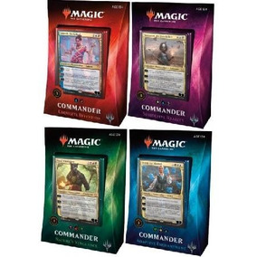Commander 2018 - Display Com 4 Decks Selados Em Português